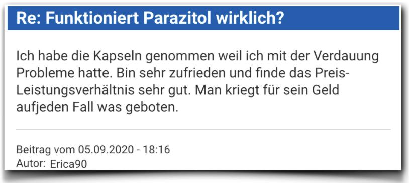 Parazitol Erfahrungsbericht Erfahrung Parazitol
