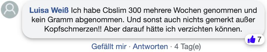 CB Slim 300 Bewertungen Erfahrungen facebook