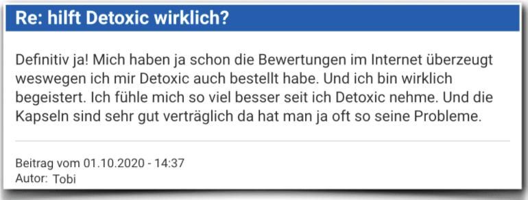 Detoxic Erfahrungsberichte Kritik Bewertung Erfahrungen Detoxic