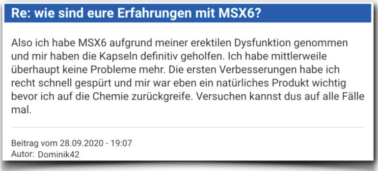MSX6 Erfahrungsbericht Bewertung Kritik MSX6