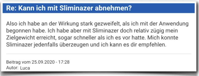 Sliminazer Erfahrungsbericht Bewertung Kritik Sliminazer