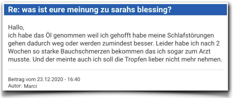 Sarahs Blessing Erfahrungen Kritik