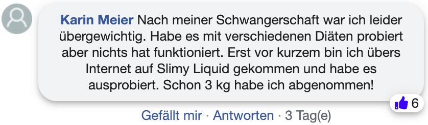 Slimy Liquid Erfahrungsberichte Bewertung facebook