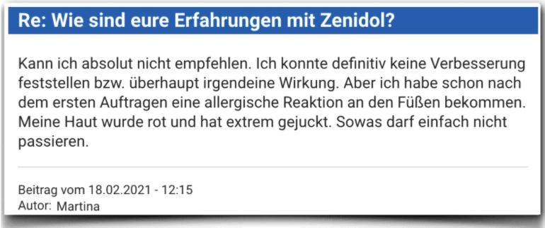 Zenidol Erfahrungsbericht Bewertung Kritik Zenidol