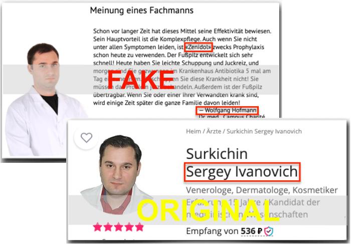 Zenidol Fake Arztbericht