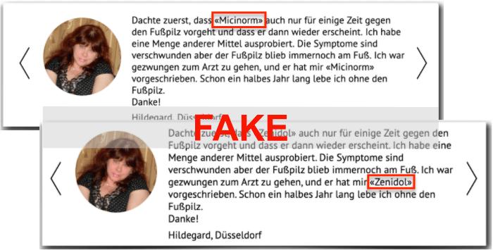 Zenidol Fake Erfahrungsbericht